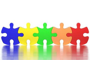 5つのパズルピース