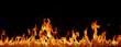 Leinwanddruck Bild - Flammen Panorama