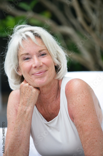 Portrait of beautiful senior woman