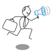businessman and megaphone