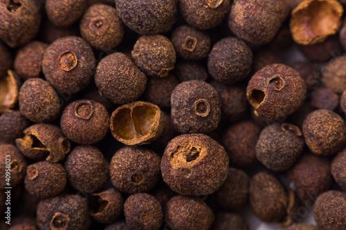 Closeup of pimento spices