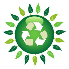 Recycle Leaf Symbol