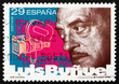 Postage stamp Spain 1994 Luis Bunuel, Director