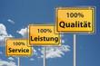 100 % Service, Leistung und Qualität