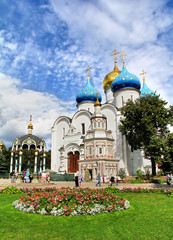 Dormition cathedral in Sergiyev Posad, Russia