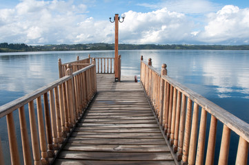 Pier at Lllanquihue lake (Chile)