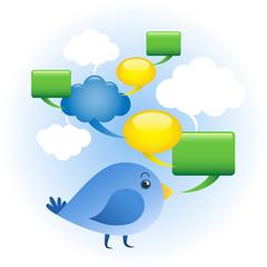 Bird Chat Social Media