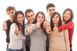 Happy Multiracial Group with Thumbs Up