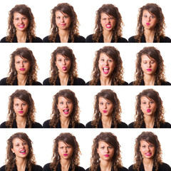 Pretty Young Woman Collection of Expressions