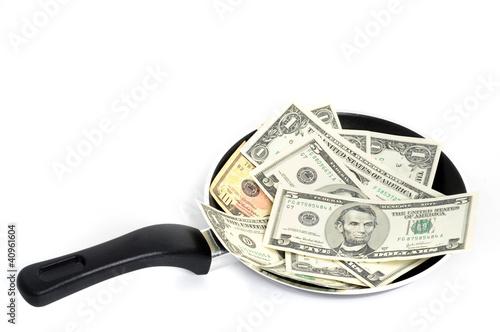 Geld-Pfanne