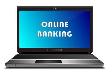 Laptop Online Banking