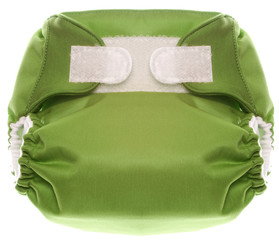 Eco Friendly Green Cloth Diaper with Hook and Loop Closure