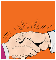 Pop art handshake