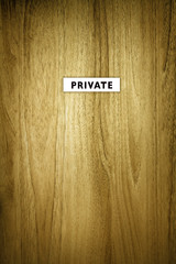private sign on door