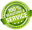 """Button Banner """"100 % Beratung & Service"""" grün"""