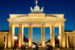 The Brandenburger Tor in Berlin at dawn