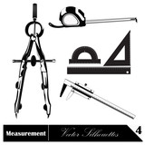 Vector illustration. Measurement poster