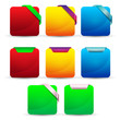set of glossy blank colourful vector buttons