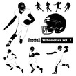 American Football Silhouettes - Vector illustrations