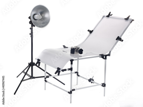 The equipment for a photo in studio