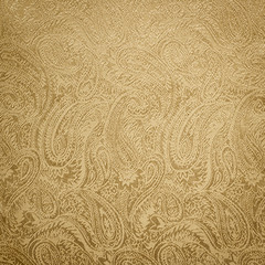 Golden paisley background/texture