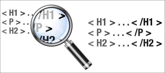 balise html à la loupe