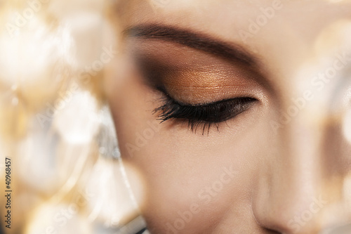 Woman face with beautiful makeup