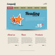Retro web template with stars