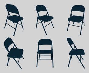 Vector Chair Silhouettes