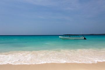 Boat near the Caribbean Beach