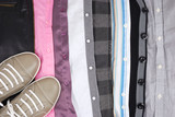 Background from clothes and a shoe