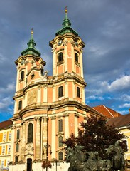 Minorite church in the middle of Eger, Hungary