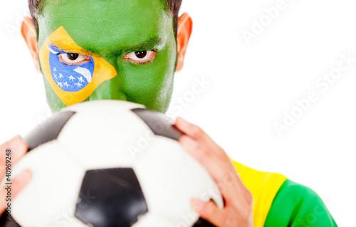 Brazilian football fan