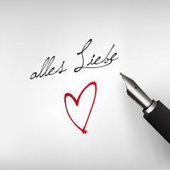 Alles Liebe mit Herz