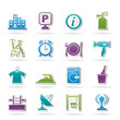 Hotel and travel icons - vector icon set