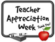Teacher Appreciation Week, notice board, apple, marker, eraser