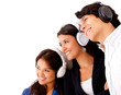 Group listening to music