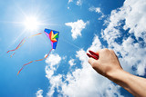 Fototapety flying kite