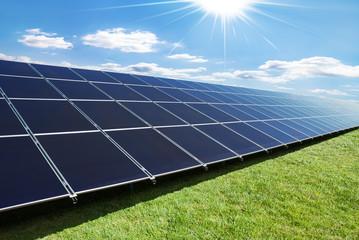 solar panels row