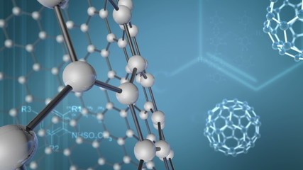 Background with Molecular Structure and chemical formulas