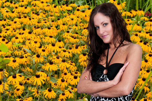 Woman withBlackeyed Susans