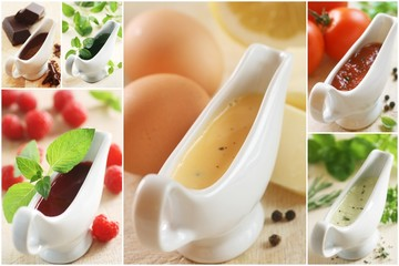 Collage - Sweet and Savory Sauces