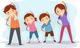 Fototapety Family Exercise