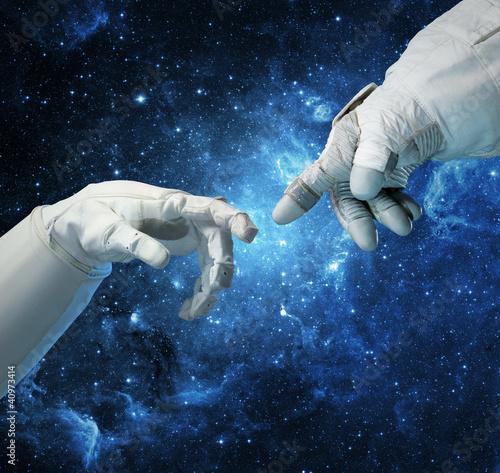 Neue Technologien im Weltraum. Konzept