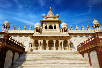 Jaswant Thada - white marble memorial. Jodhpur, India.