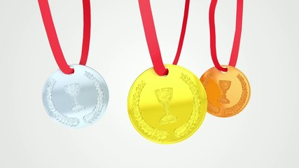 Medals loop animation