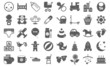 Collection of useful icons of children's.