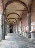 Basilica of Sant'Ambrogio (379-386), Milan, Italy: atrium on the