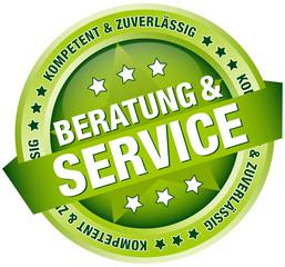 """Button Banner """"Beratung & Service"""" grün"""