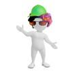 Jugendlicher mit Cappy und Sonnenbrille